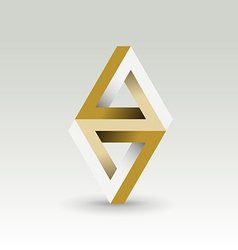 Imposible triangle vector image