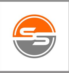 Initials ss circle logo vector