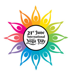International yoga day poster vector