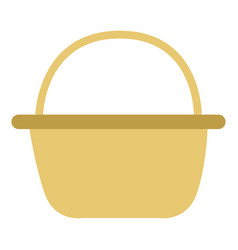 isolated empty picnic basket vector image