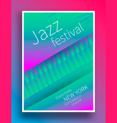 Jazz music festival poster vector