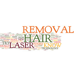 laserhairremoval text background word cloud vector image
