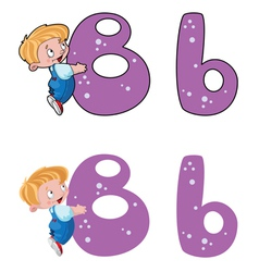 letter B baby vector image