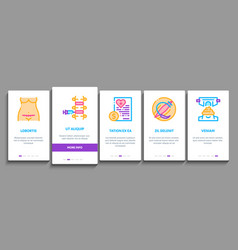Maternity hospital onboarding elements icons set vector