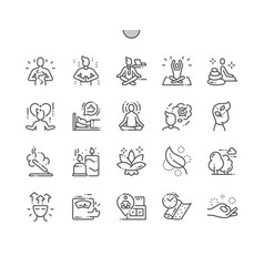 Meditation and spiritual practices icons vector