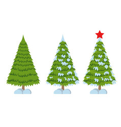 Merry christmas tree sign on white background vector
