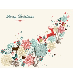 Merry Christmas vintage colors transparency vector