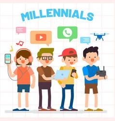 Millennials generation y vector