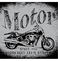 Motorcycle Racing Typography Graphics Old school b vector