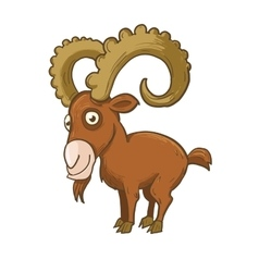 Mountain-goat with horns vector