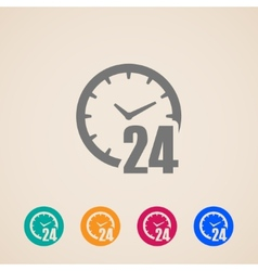 Open 24 hours a day icons vector