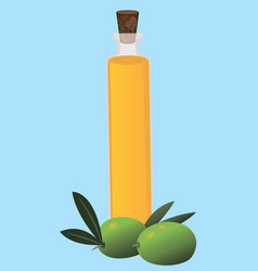 organic olive oil with olives isolated vector image