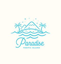 paradise label emblem or logo template vector image