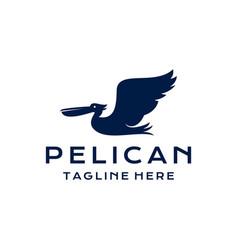 Pelican bird logo design template vector