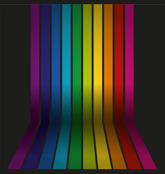 rainbow colored wall with floor background vector image