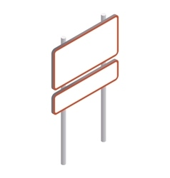Rectangular road sign icon isometric 3d style vector