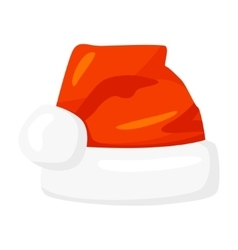 Red santa claus hat isolated on white vector