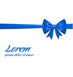 Ribbon bow gift isolated white background satin vector