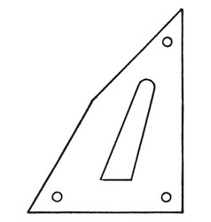 Rondinella triangle drawing a perpendicular line vector