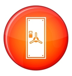 Safe door icon flat style vector