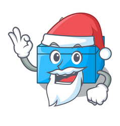 Santa tissue box isolated on the mascot vector