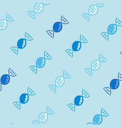 seamless dna candy blue pattern vector image