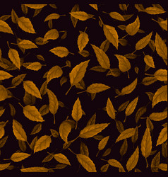 Seamless texture of autumn leaves vector