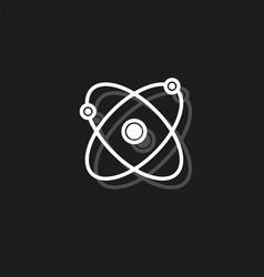 simple atom icon vector image