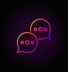 Speech bubbles colorful icon vector