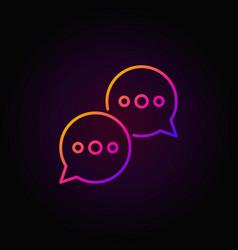 speech bubbles colorful icon vector image