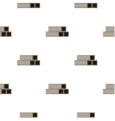 Square metal tubes pattern flat vector