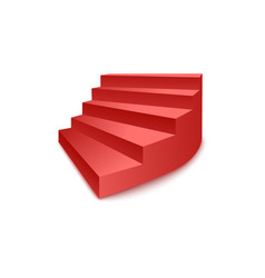 Stairs award ceremony podium or pedestal side view vector
