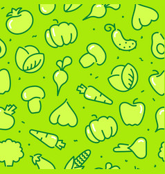 stylized outlines of vegetables seamless vector image