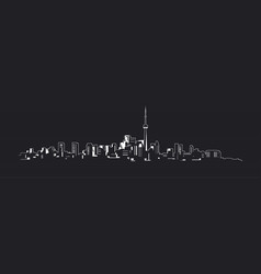 The outline of a great night city vector