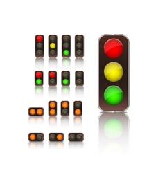 traffic light icon set vector image vector image