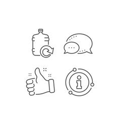 water cooler bottle line icon refill aqua sign vector image
