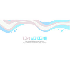 Website header colorful wave design vector