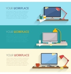 Workspace for freelancer vector