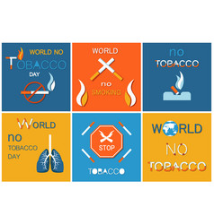 world no tobacco day poster lightened cigarette vector image
