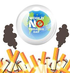World No Tobacco Day poster vector image
