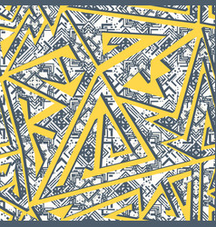 yellow color geometric pattern vector image