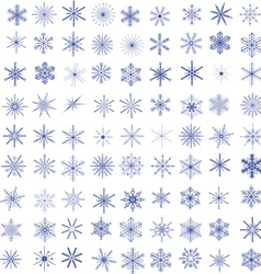 99 Snowflakes vector image vector image