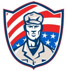 American soldier shield vector