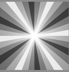black and white light ray abstract background vector image