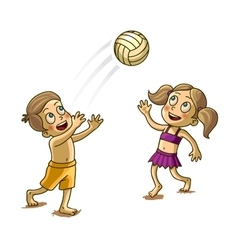 Happy Children playing with a Ball vector image