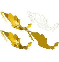 Mexico maps vector image vector image