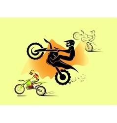 Motocross enduro set vector image