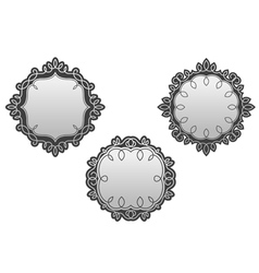 Retro frames set with vintage embellishments vector image vector image