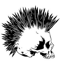 Skull punk3 vector