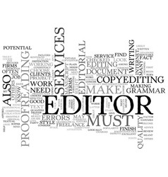what you should know about editorial services vector image vector image